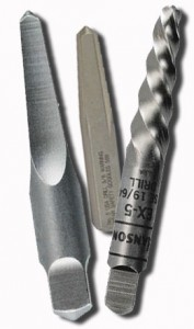 drilling pilot holes with a regular bit can actually enhance tightening extractors if the left hand