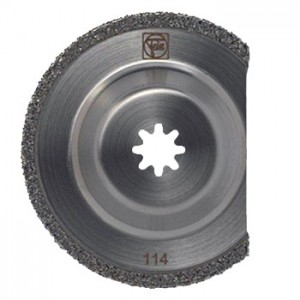 Grinder blades can handle tough materials like thin-set mortar, tile adhesive or rough wood