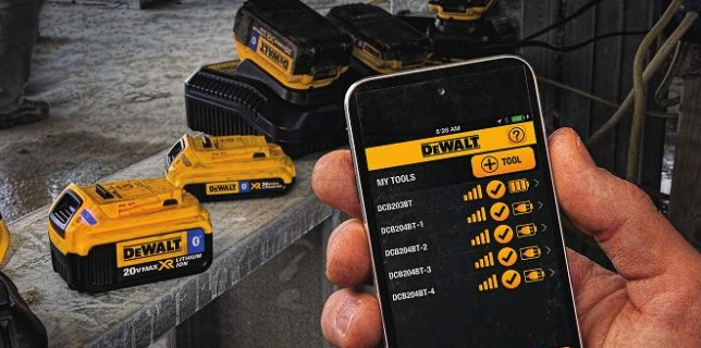 DeWalt's Tool Connect app in action