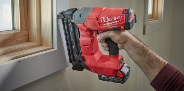 Milwaukee cordless finish nailers coming May 2016