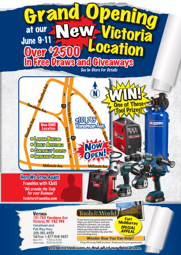 Grand Opening June 9 11 Victoria Location The Tool Corner