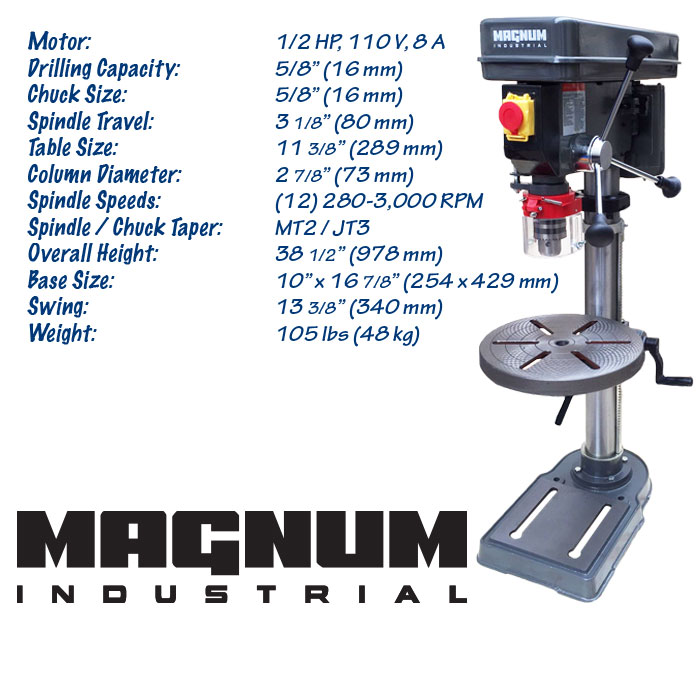 Magnum Industrial Drill Presses Now Available At Kms Tools