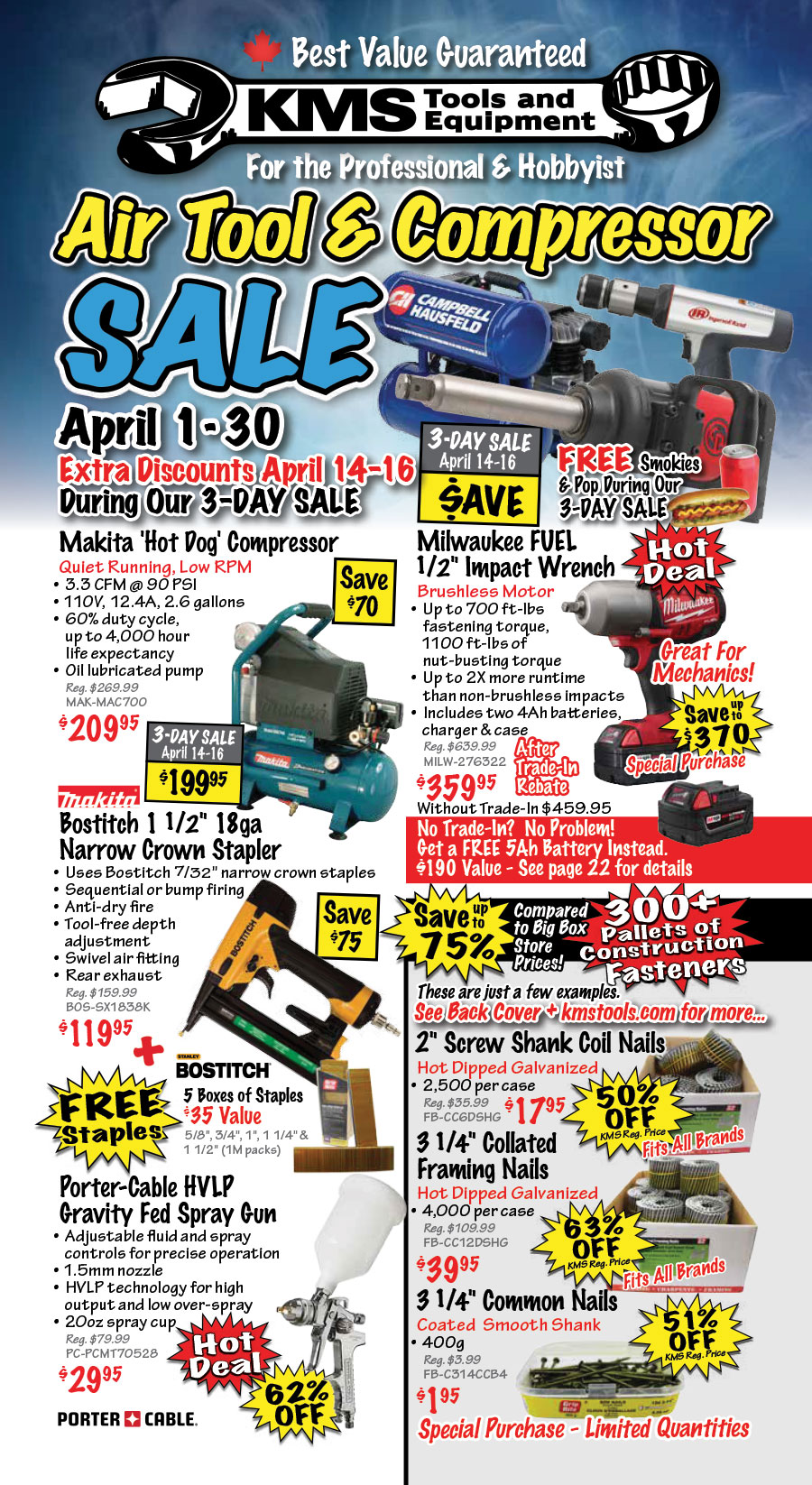March Power Tool Sale