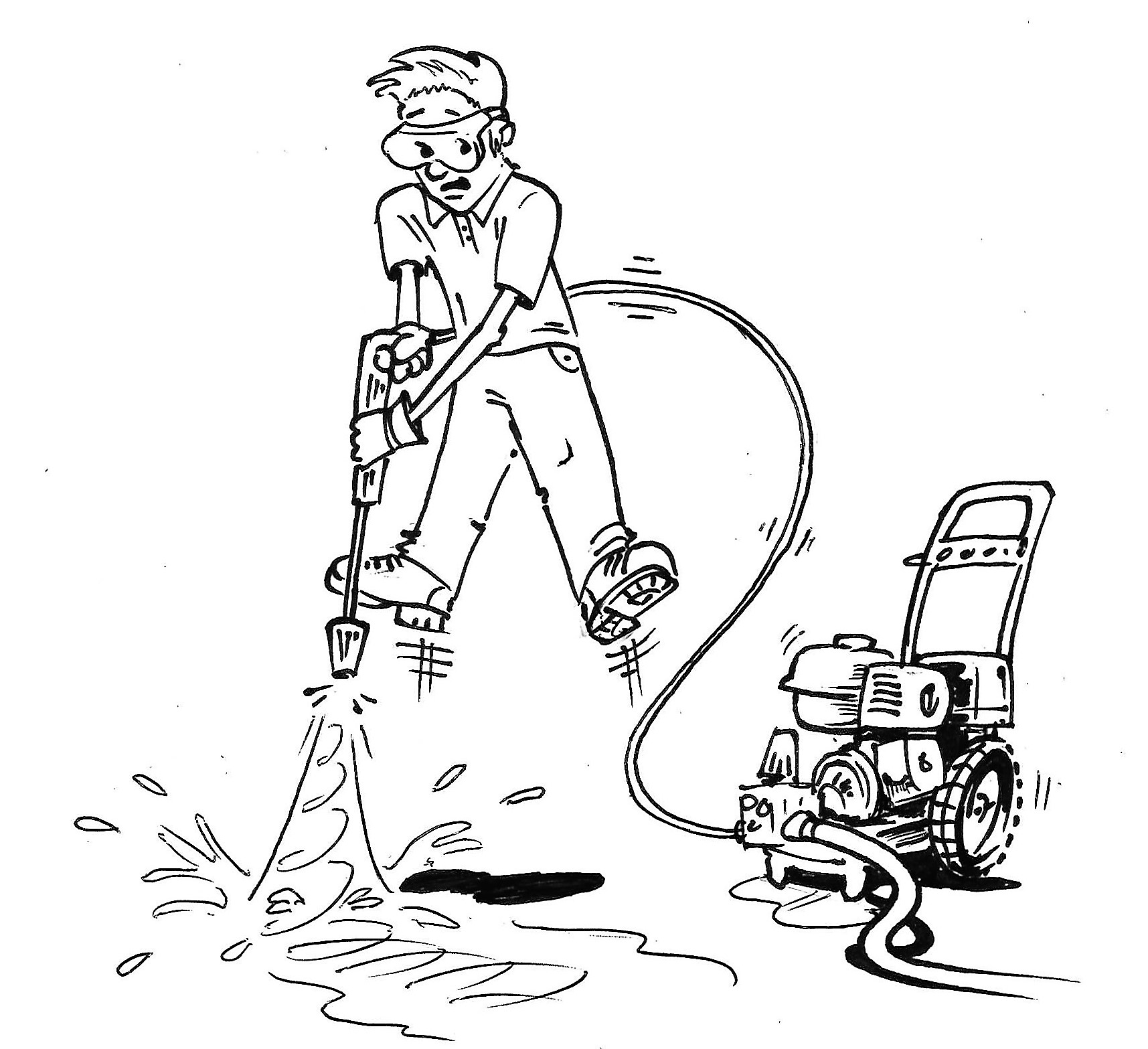 how to get nozzle off pressure washer