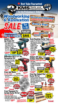 Woodworking & Renovation Sale