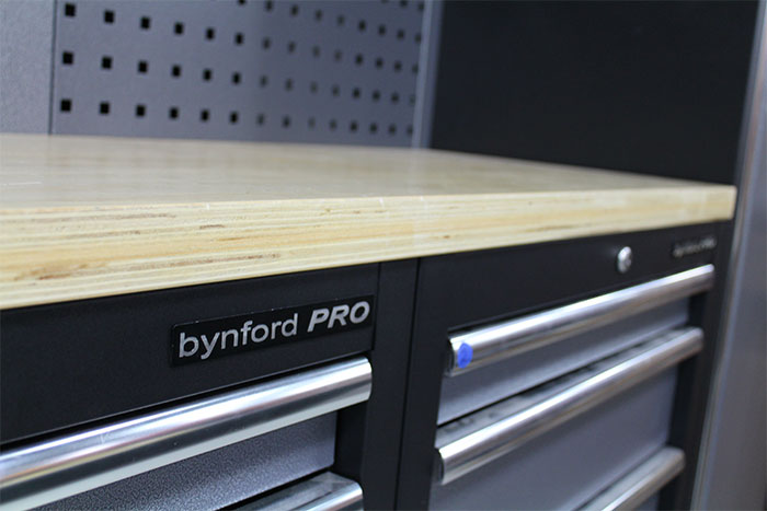 bynford garage storage system-workbench