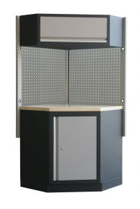 Magnum Garage Storage System Corner Cabinet and Workbench