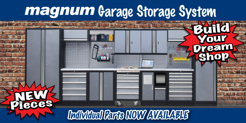 magnum garage storage system-new components