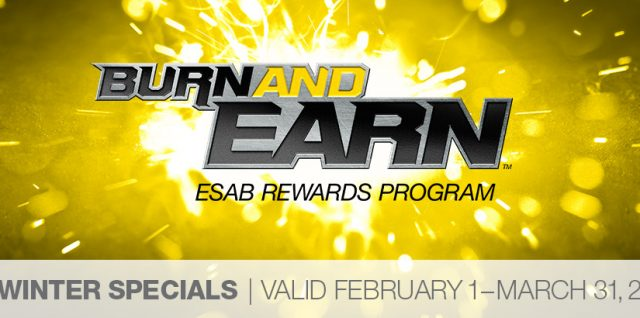 ESAB Burn and Earn Rebate Event