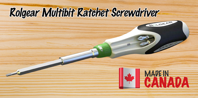 rolgear multibit ratcheting screwdriver